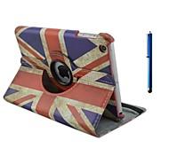 9.7 pollici 360 gradi di rotazione del modello di bandiera con il caso del basamento e la penna per ipad aria / ipad 5