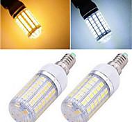 Недорогие -E14 LED лампы типа Корн T 69LED светодиоды SMD 5050 Тёплый белый Холодный белый 1200lm 2800-3500/6000-6500K AC 220-240V