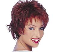 cheap -European and American Fashion Wine Red Short Hair Wig