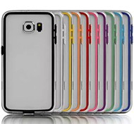 TPU Bumper Frame Case with Metal Buttons for Samsung Galaxy S6