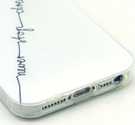 Black Words Pattern Stylus Anti-Dust Plug and Stand TPU Material for iPhone 5/5S