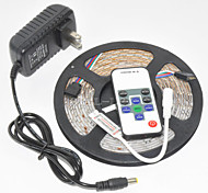 Z®ZDM Waterproof  5M 300X3528 SMD RGB LED Strip Light and 10Key RF Controller and 12V3A EU/US/UK Power Supply (AC110-240V)