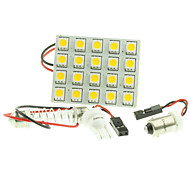 cheap -T10  BA9S SV8.5 G4 LED  4W 20X5050SMD LED 220LM  Blue/Red/Warm White/Yellow/White  for Car Light Bulb  (DC12-16V)