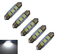 1W Festoon Decoration Light 3 SMD 5050 48-100 lm Cold White 6000-6500 K DC 12 V
