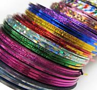 30PCS Mixs Color Striping Tape Line Nail Stripe Tape Nail Art Decoration Sticker