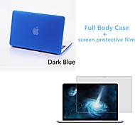 caso fosco corpo inteiro de alta qualidade e filme protetive tela para MacBook retina de 13,3 polegadas