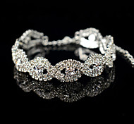 XXI Women's The Newest Fashion Casual Gold Plated/Rhinestone Chain Bangles Bracelet 1pc Christmas Gifts