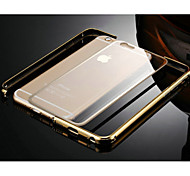 cheap -Case For Apple iPhone 6 iPhone 6 Plus Transparent Bumper Solid Color Hard Metal for iPhone 6s Plus iPhone 6s iPhone 6 Plus iPhone 6