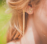 cheap -The New European Style Fashion Street Shoot Simplicity Leaves Tassel Earrings