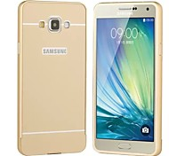 Para Funda Samsung Galaxy Carcasa Funda Cromado Cubierta Trasera Funda Un Color Dura Acrílico para SamsungA5 (2017) A3 (2017) A7 (2017)