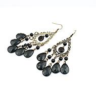 Women's Drop Earrings European Style Fashion Bohemian Style Water Droplets Alloy Earrings