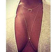 Женский Слоистые ожерелья Геометрической формы месяц Искусственный бриллиант Сплав Мода Pоскошные ювелирные изделия бижутерия Бижутерия