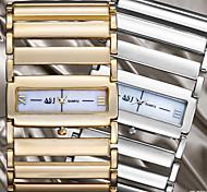 Недорогие -ASJ Жен. Нарядные часы Японский кварц С гравировкой сплав Группа Кольцеобразный Серебристый металл Золотистый