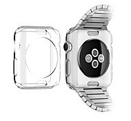 Custodia morbida protettiva tpu trasparente per apple watch 3 series 2 1 iwatch (38mm 42mm)