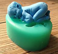 Недорогие -силиконовые формы торт помадка украшения Спящая младенца формы шоколада случайный цвет