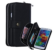 Special Design High quality Genuine Leather Wallet Case Full Body Cases with Stand for Samsung Galaxy S5 I9600