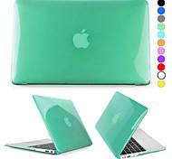 Недорогие -MacBook Кейс для Сплошной цвет Прозрачный пластик MacBook Air, 11 дюймов