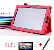 For Lenovo Case with Stand / Flip Case Full Body Case Solid Color Hard PU Leather Lenovo