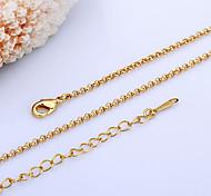 baratos -Mulheres Colares em Corrente  -  Banhado a Ouro 18K, Pérola Dourado, Branco Colar Para