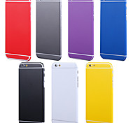 полный корпус сторона + верхняя + задний + кнопка чистый цвет кожи наклейка для Iphone 6 плюс (ассорти цветов)