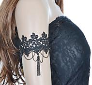 Недорогие -винтажный кружевной браслет с цепочкой из ткани классический женский стиль