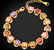U7® Hot Bracelet with Multicolor Cubic Zirconia 18K Real Gold/Platinum Plated Tennis Bracelets for Women Christmas Gifts