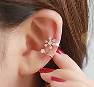 Women's Ear Cuffs Costume Jewelry Rhinestone Alloy Jewelry For Wedding Party Daily Casual
