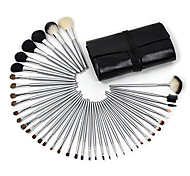 cheap -Professional 40 Pcs Wool Makeup Brush Set with Free Black Case
