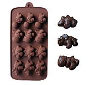 Недорогие -динозавров форму формы для выпечки льда / шоколада / прессформы торта