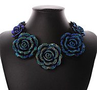 Women's Collar Necklace Floral Vintage Cute Party Casual Fashion Cute Style Resin Alloy Flower Rose Necklace For Party Special Occasion