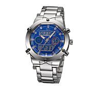 High Quality Fashion Multi-function Watch Digital Analog Alarm Stainless Steel Strap Outdoor Men's Sports Watch Wrist Watch Unique Watch