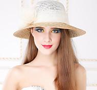 Недорогие -Женский Плетеные изделия Лен Заставка-На каждый день на открытом воздухе Шапки 1 шт.