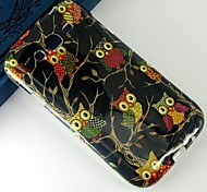Black cartoon owl multi-map Pattern Design Pattern Protective TPU Soft Case for Samsung Galaxy Grand Neo I9060