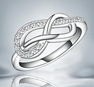 Недорогие -Классические кольца Кристалл Стерлинговое серебро Кисточки Мода Серебряный Бижутерия Свадьба Для вечеринок Повседневные 1шт