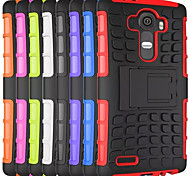 cheap -Case For LG L90 LG G2 LG G3 LG L70 Other LG LG G4 LG Case Shockproof with Stand Back Cover Armor Hard PC for LG G4 Stylus/LS770