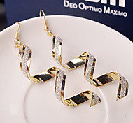 cheap -Women's Drop Earrings - Fashion Silver Golden Waves Earrings For Wedding Party Daily Casual