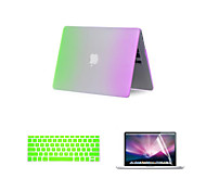 cheap -MacBook Case for MacBook Air 13-inch Color Gradient Plastic Material with Keyboard Cover and Screen Protector