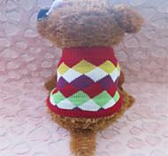 Зима Красный - Свитера - для Собаки - Смешанные материалы - XS / S / M