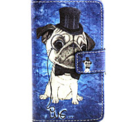 cheap -Case For Nokia Lumia 630 Nokia Lumia 640 Nokia Nokia Lumia 830 Nokia Case Card Holder Wallet with Stand Full Body Cases Dog Hard PU
