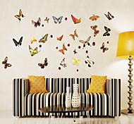 adesivos de parede adesivos de parede animados do estilo de parede colorido das borboletas adesivos em pvc