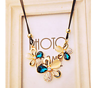 Women's Pendant Necklaces Crystal Simulated Diamond Alloy Fashion Screen Color Jewelry