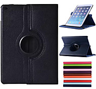 cheap -Case For iPad Air with Stand Auto Sleep / Wake Origami 360° Rotation Full Body Cases Solid Color PU Leather for iPad Air
