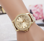 Women's Round Dial Case Alloy Watch Brand Fashion Quartz Watch Cool Watches Unique Watches