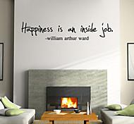 wall stickers da parete in stile decalcomanie happniess parole inglesi&cita adesivi murali in pvc