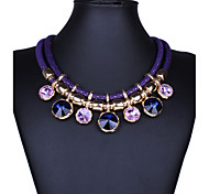cheap -Women's Crystal Statement Necklace  -  Vintage Festival / Holiday Statement Jewelry Purple Red Blue Necklace For Party Special Occasion
