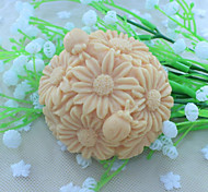 Flower Ball Dessert Decorator Soap Mold Fondant Cake Chocolate Silicone Mold, Decoration Tools Bakeware