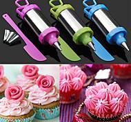 Набор из 4 украшения торта сахар ремесло инструмент перо набор наконечника сопла тесто с скребком (случайный цвет)
