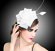 cheap -Crystal Fabric Organza Tiaras Fascinators Flowers Barrette 1 Wedding Special Occasion Party / Evening Headpiece