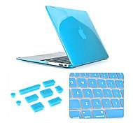 """Недорогие -3 в 1 кристалл прозрачный чехол с крышкой клавиатуры и силиконовой пыли разъем для MacBook Pro 13,3 """"(разные цвета)"""