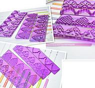 4-х частей помады торт оборка формы пластиковые границы украшение торта прессформы